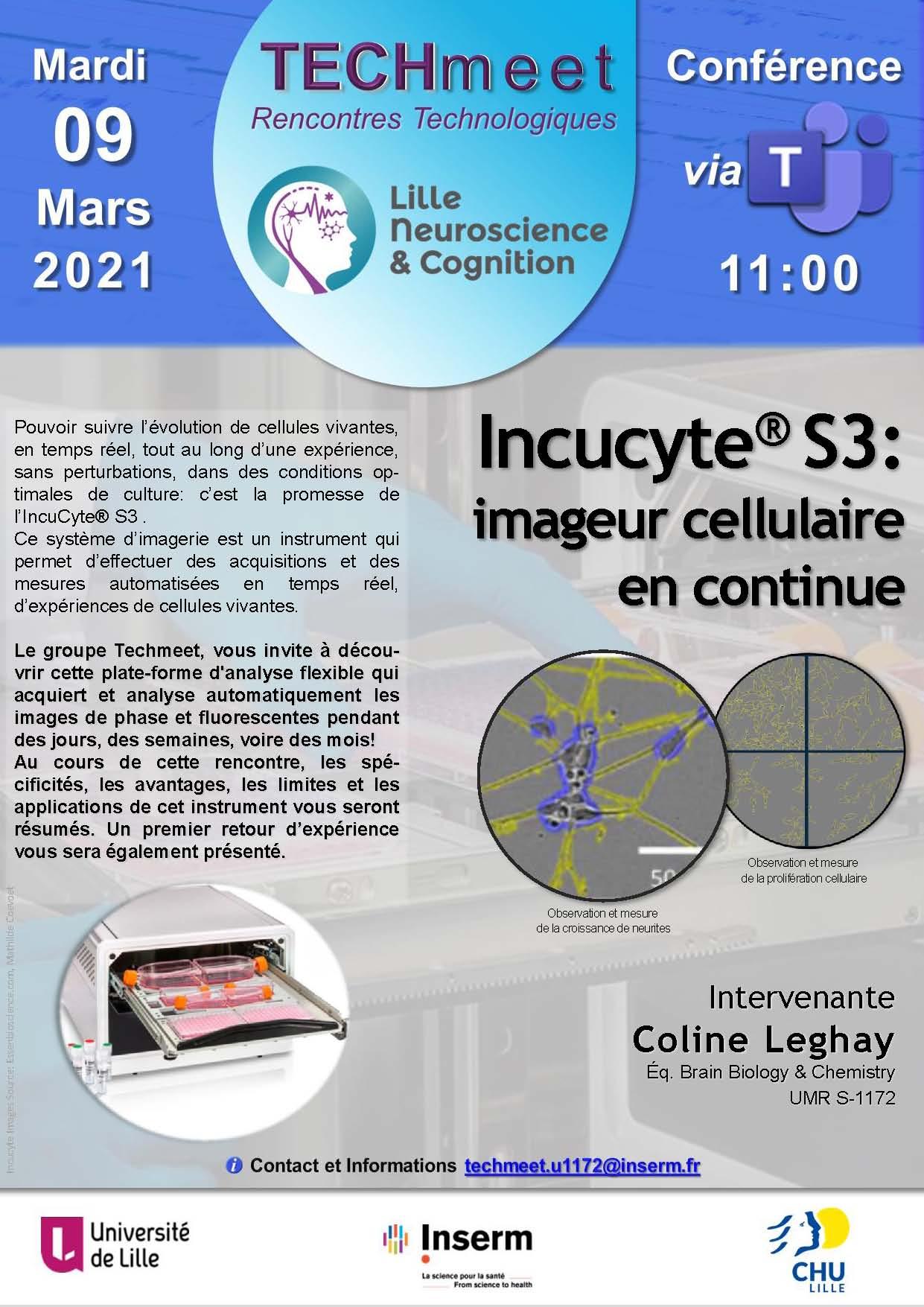 Techmeet 3_ Incucyte S3 imageur cellulaire en continu