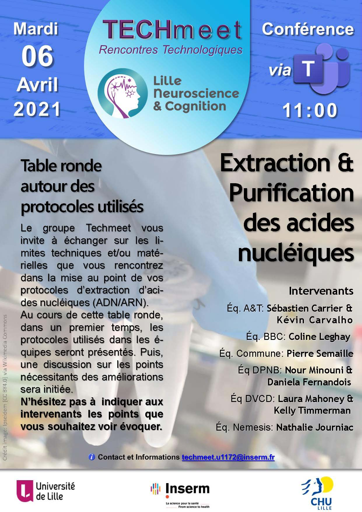 Techmeet 4_ Extraction & Purification des acides nucléiques