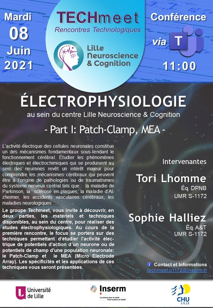 Affiche pour Techmeet 6_Electrophysiologie Part I